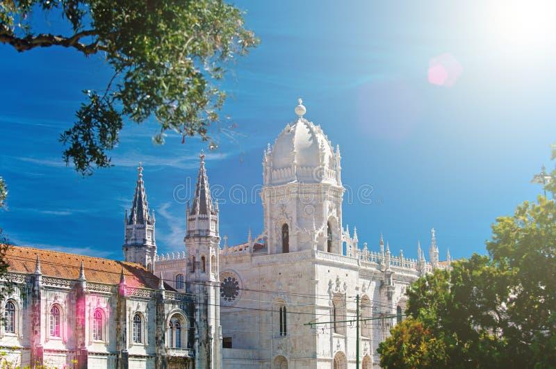 Kloster för Mosteiro DOS Jeronimos Hieronymites, arkivfoto