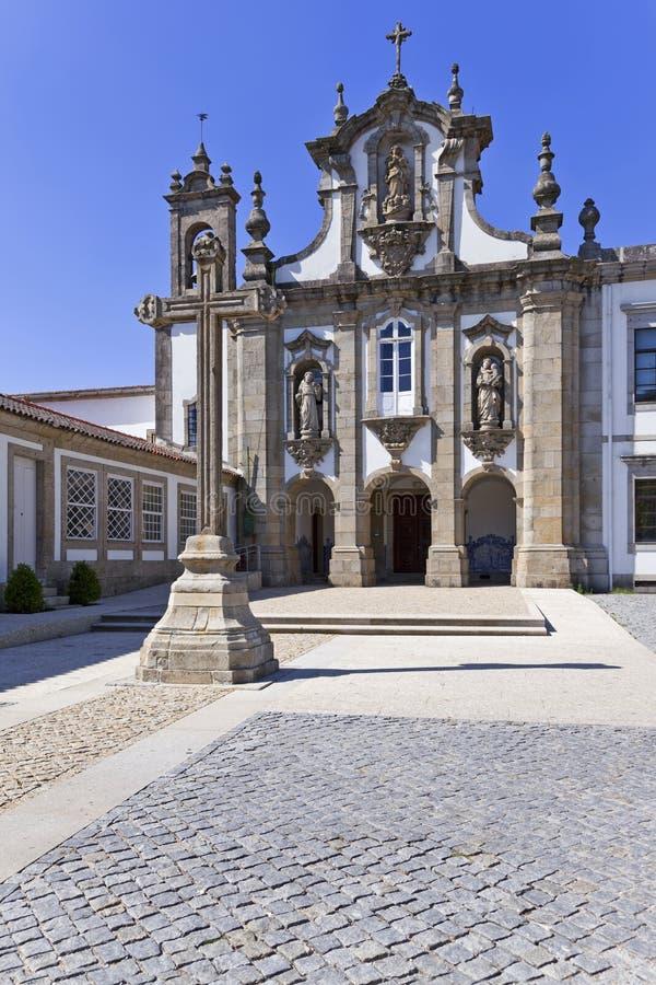 Kloster för Santo Antonio DOS Capuchos, Guimaraes arkivbilder