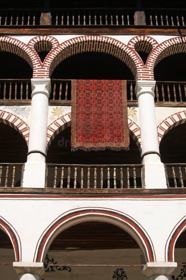 kloster flera terrasser royaltyfria bilder