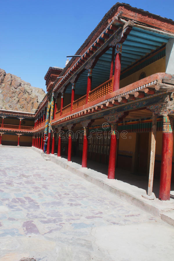 Kloster, Himalaja stockfoto