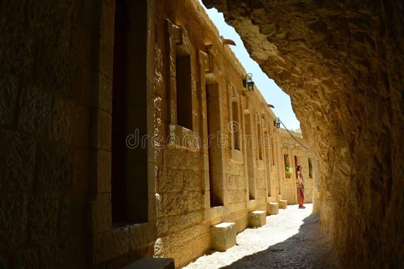Kloster in Jericho Palestine stockbild
