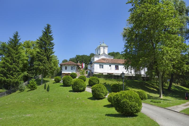 Kloster Kaona i Serbien arkivfoton
