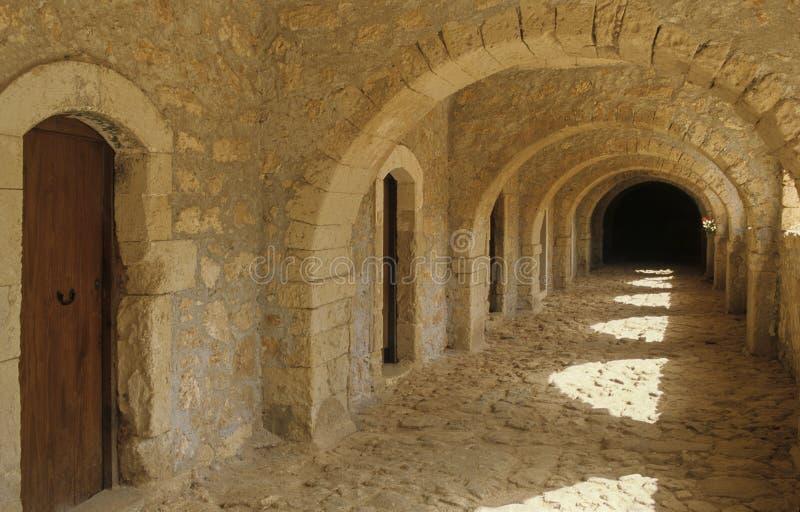 Kloster Kreta-Arkadi lizenzfreies stockfoto