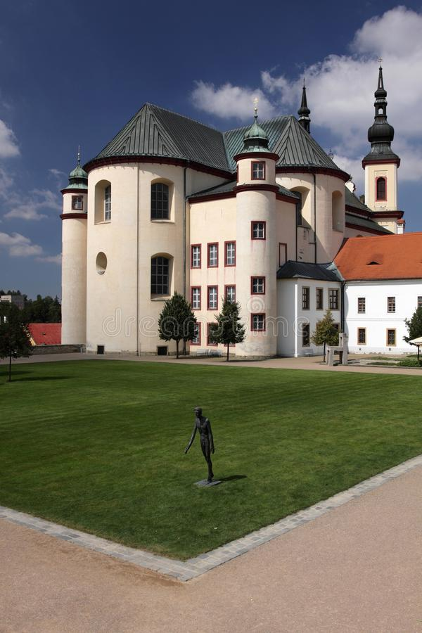 Kloster in Litomysl lizenzfreie stockbilder