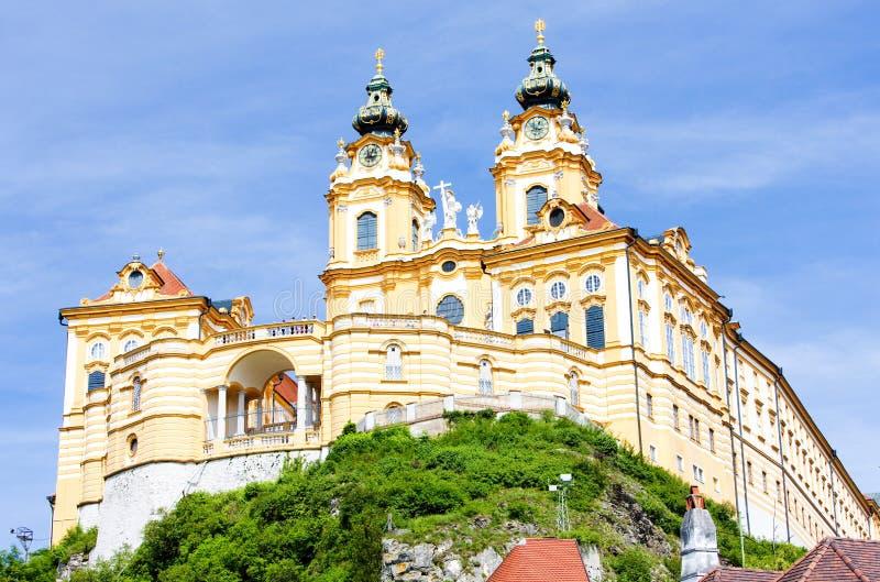 Kloster Melk in Austira stockfotografie