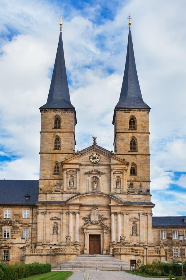 Kloster Michelsberg (Michaelsberg)在Bamburg,德国 免版税库存图片