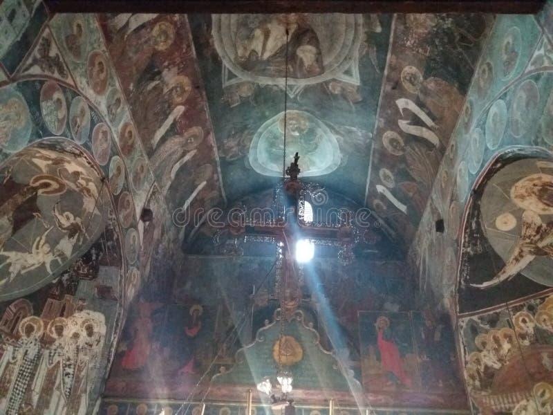 Kloster Nikolje - Serbien arkivbild