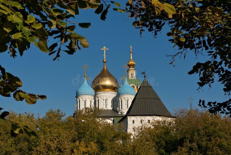 kloster novospassky moscow royaltyfri bild