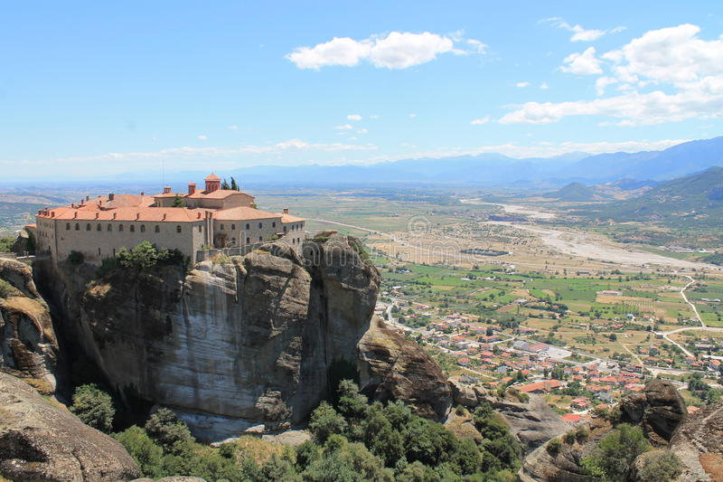 Kloster på meteores arkivbilder