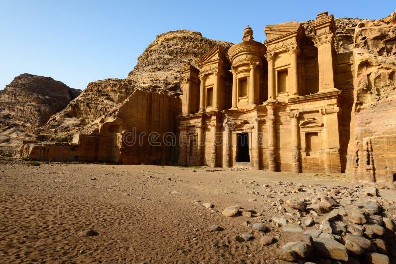 Kloster på Petra arkivbilder