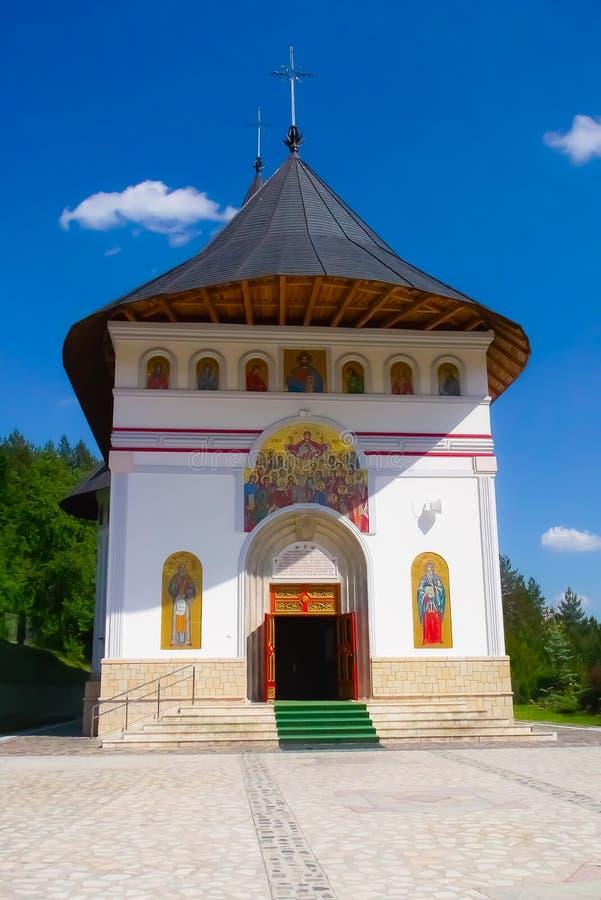 Kloster på Piatra Neamt royaltyfria foton
