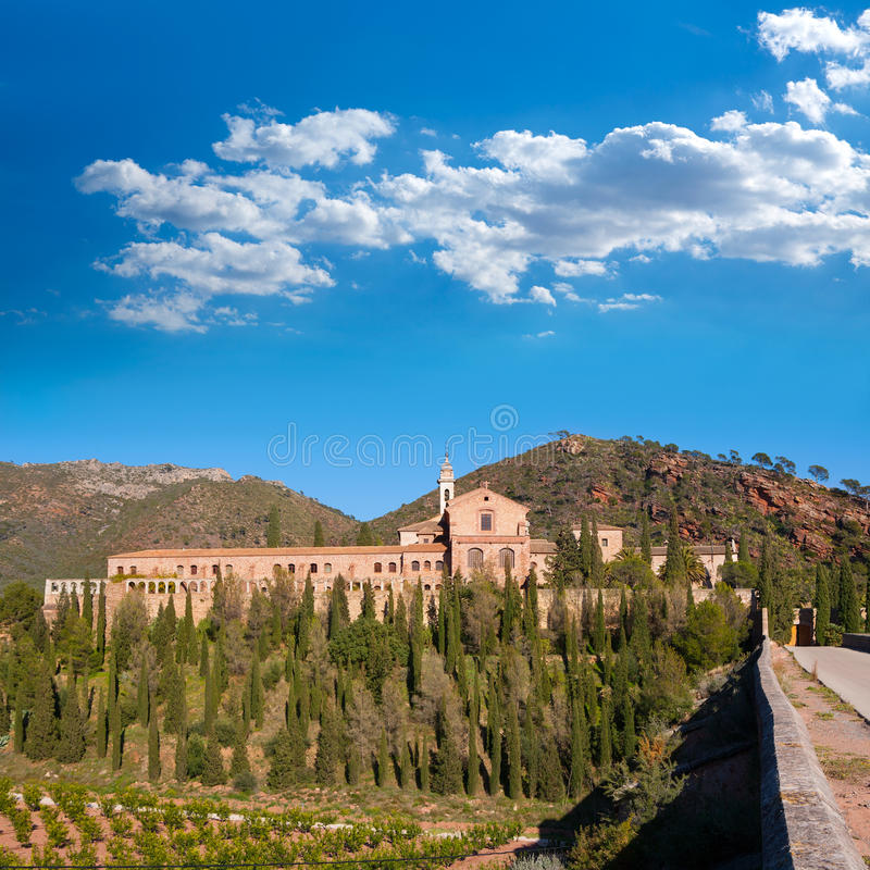 Kloster Portaceli Porta Coeli in Valencia bei Calderona stockfoto