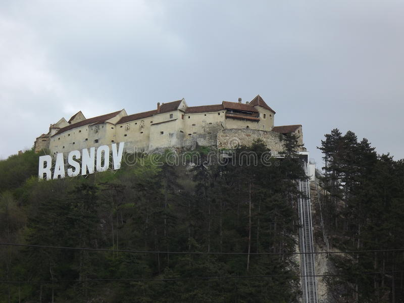 Kloster Rasnov-Form die Stadt stockfotos