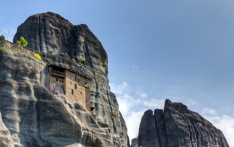 Kloster Sankt- NikolausAnapausas, Meteora, Griechenland lizenzfreies stockbild