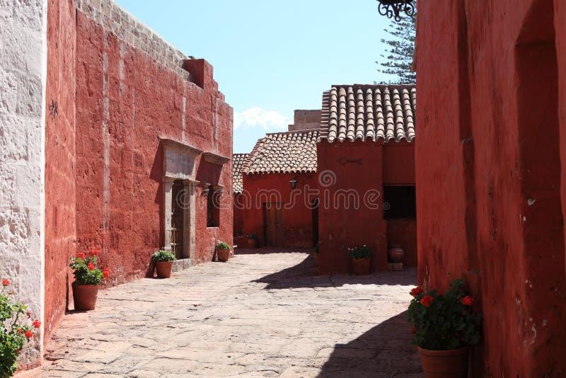 Kloster Santa Catalina i Arequipa royaltyfria bilder