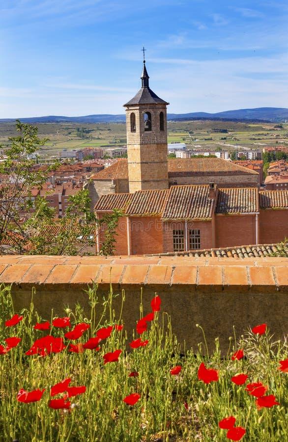 Kloster Santa Maria Avila Ancient Medieval City Spanien fotografering för bildbyråer