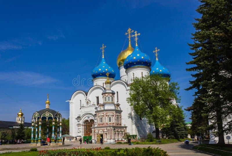 Kloster in Sergiev Posad lizenzfreie stockbilder