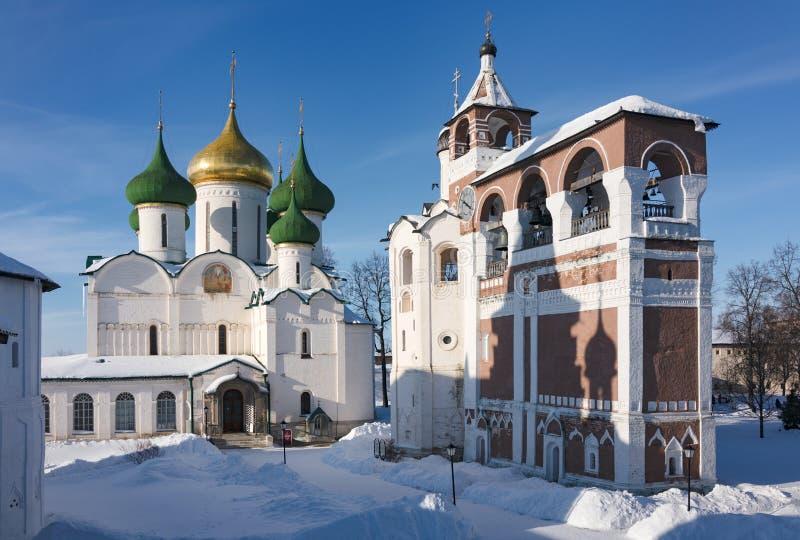Kloster Spaso-Evfimiev Suzdal Russland Goldener Ring stockfotos