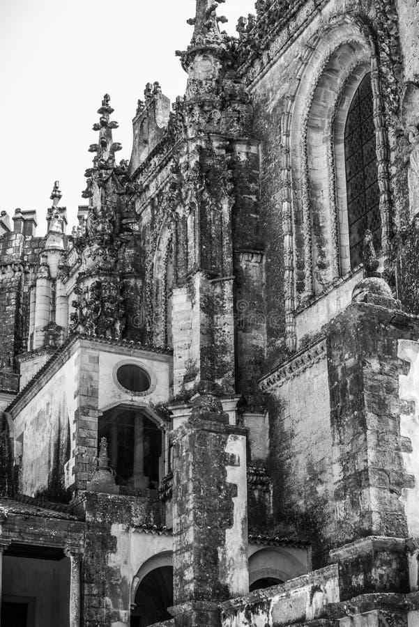 Kloster Templar i Portugal royaltyfri foto
