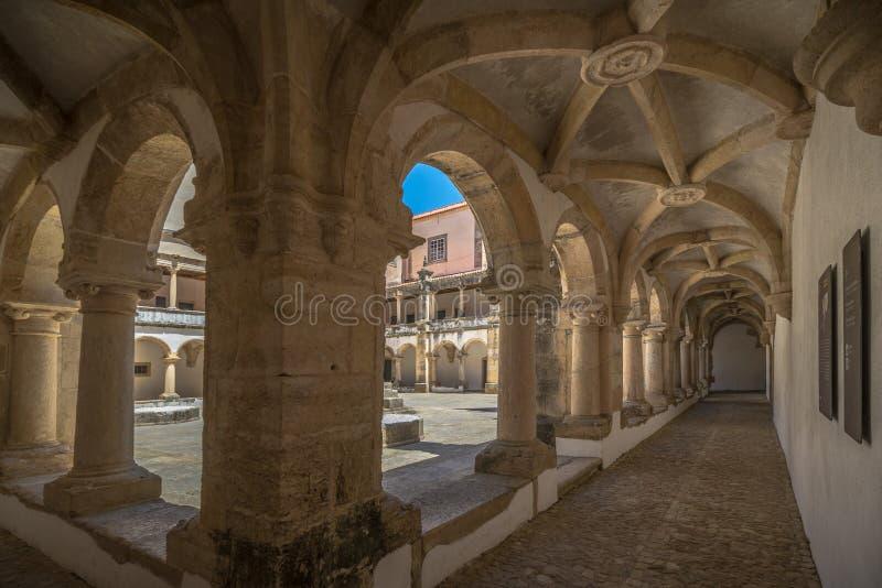 Kloster Templar i Portugal arkivfoto