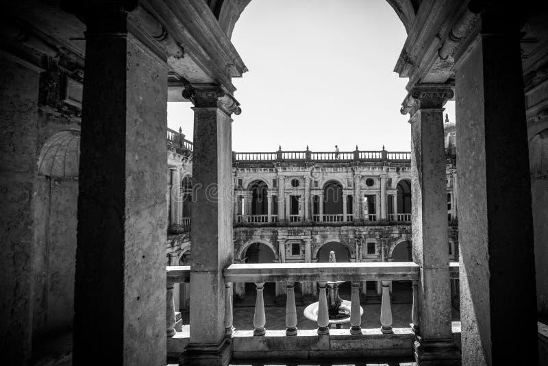 Kloster Templar i Portugal arkivfoton