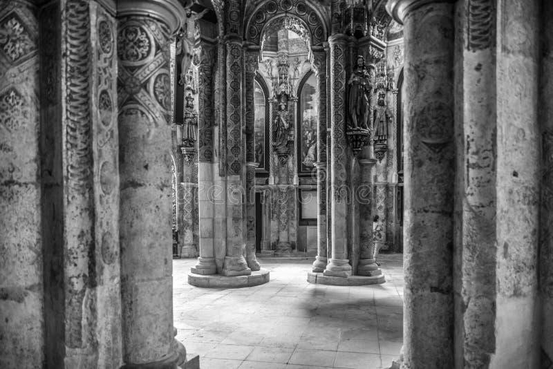 Kloster Templar i Portugal arkivbild