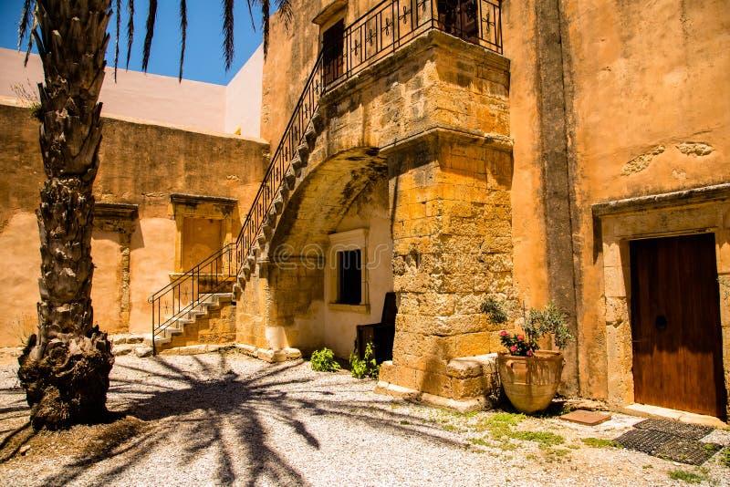 Kloster von Arkadi, Creta, Griechenland stockfotos