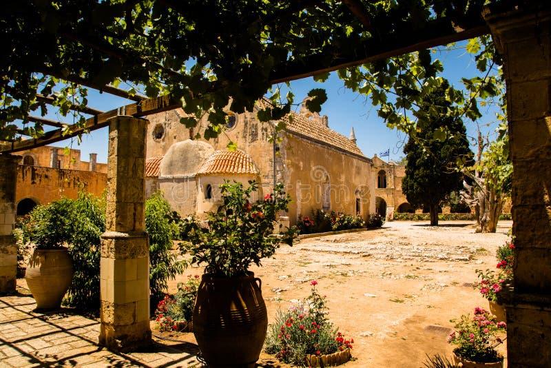 Kloster von Arkadi, Creta, Griechenland lizenzfreies stockfoto
