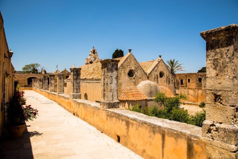 Kloster von Arkadi, Creta, Griechenland lizenzfreies stockbild