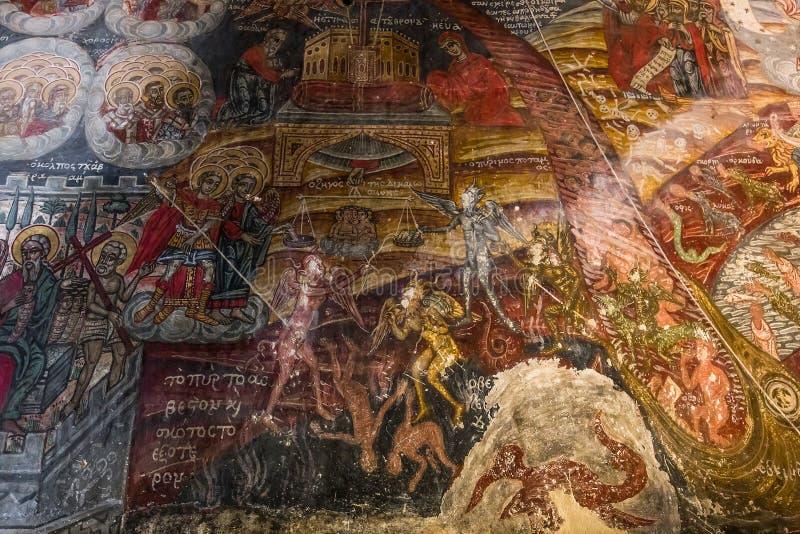 Kloster von Dekoulon, Itilo, Peloponnes, Griechenland lizenzfreie stockbilder