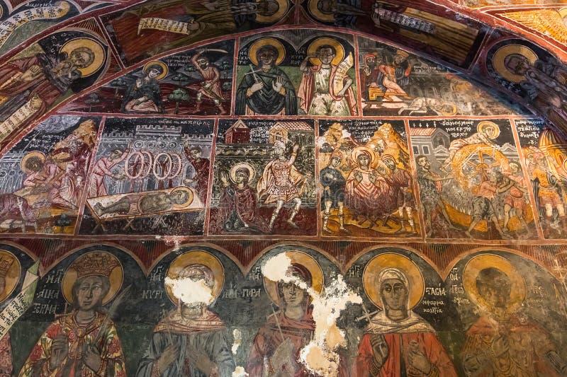Kloster von Dekoulon, Itilo, Peloponnes, Griechenland stockbild