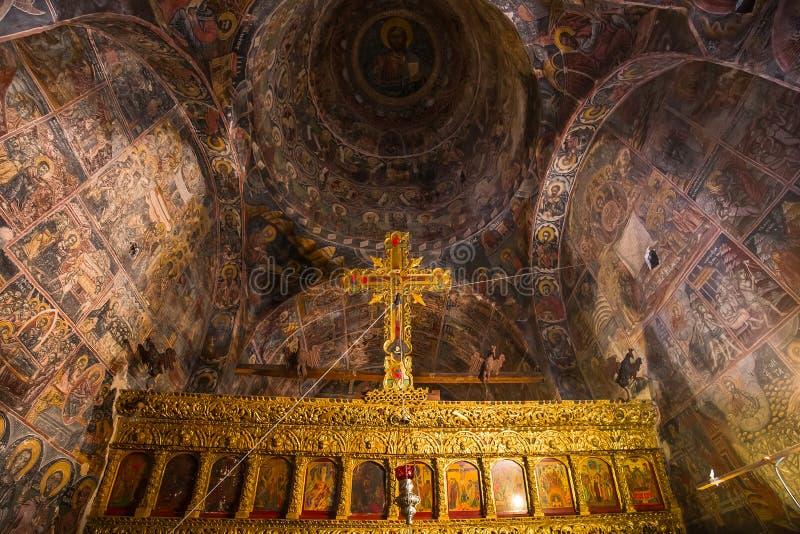 Kloster von Dekoulon, Itilo, Peloponnes, Griechenland stockbilder