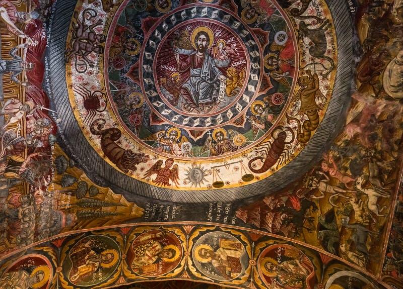 Kloster von Dekoulon, Itilo, Peloponnes, Griechenland lizenzfreies stockfoto