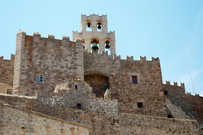 Kloster von Johannes die griechische Insel von Patmos lizenzfreie stockfotografie