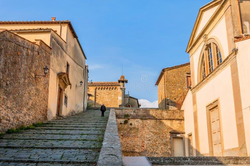 Kloster von San Francesco auf dem Kamm von Fiesole-Hügel in Firenze, Italien stockfotografie