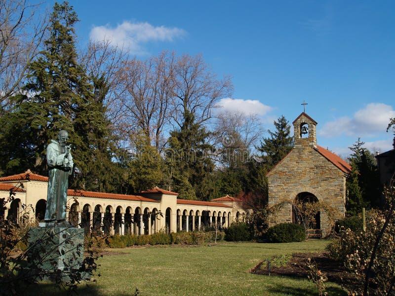 kloster washington för dc-franciscanträdgård arkivbilder