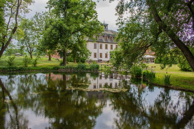 Kloster-Zustand WilhelmsglÃ-¼ cksbrunn im werra Tal stockfoto