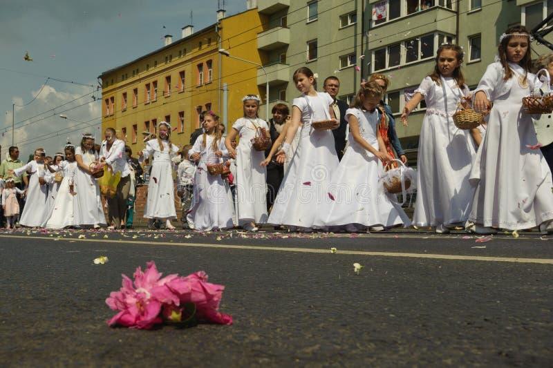 klosterbroder för procession för christicorpusdag arkivbild