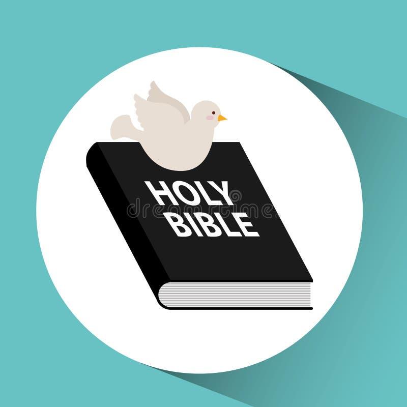 klosterbroderkors för helig bibel med ord stock illustrationer