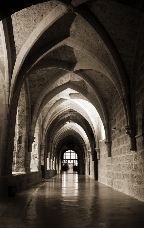Klosterinnenraum stockfoto