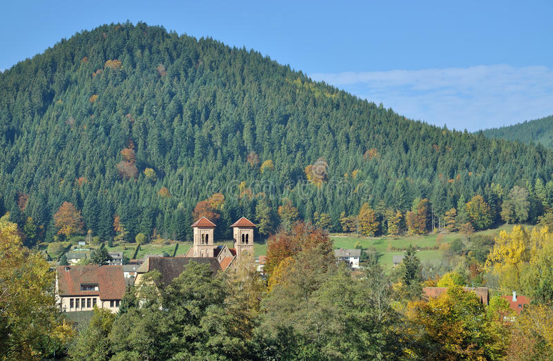 Klosterreichenbach,Black Forest,Germany. Village of Klosterreichenbach near Freudenstadt in Black Forest,Germany royalty free stock photos
