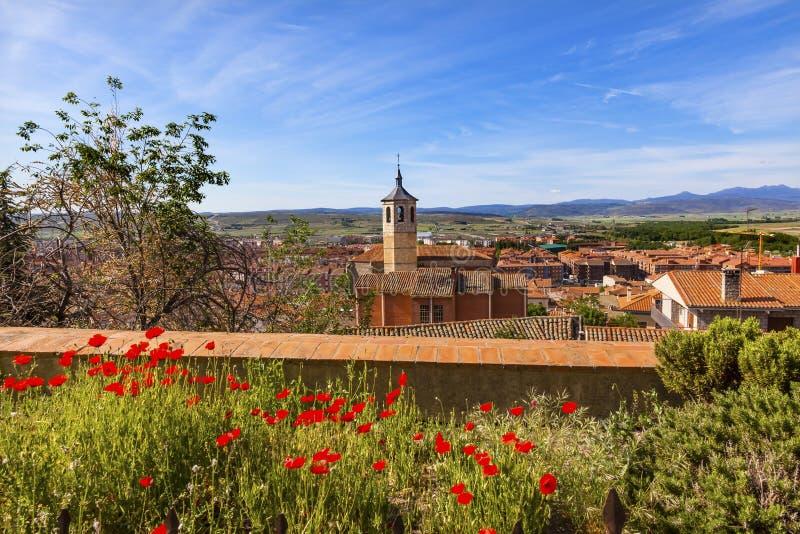 KlosterSanta Maria Avila Ancient Medieval City Castile Spanien royaltyfria bilder