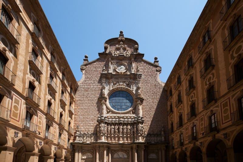 Klostret Santa Maria de Montserrat i Katalonien, Spanien arkivfoto