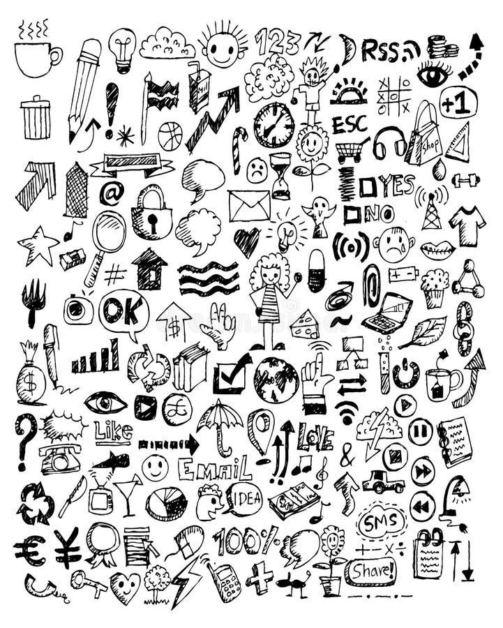 Klotter för handklotteraffär vektor illustrationer
