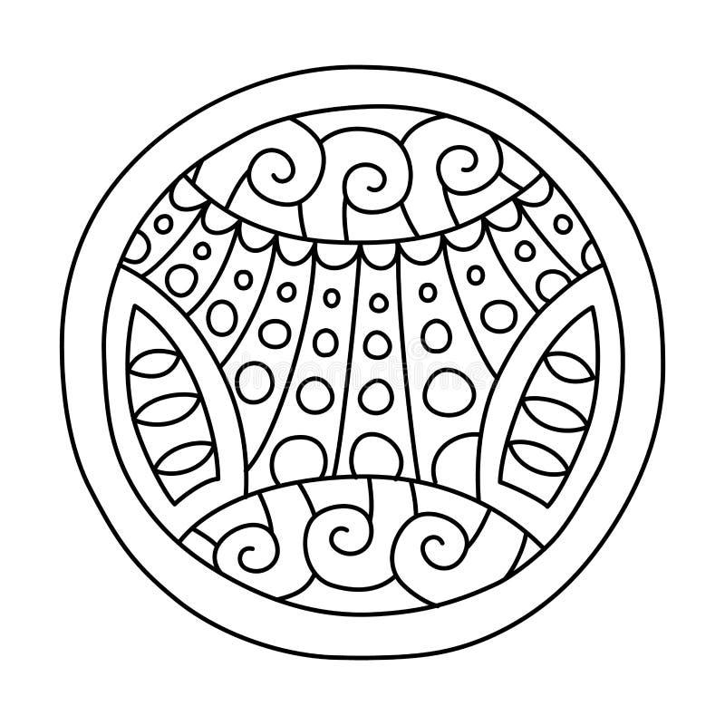 Klotter fyllde cirkeln stock illustrationer