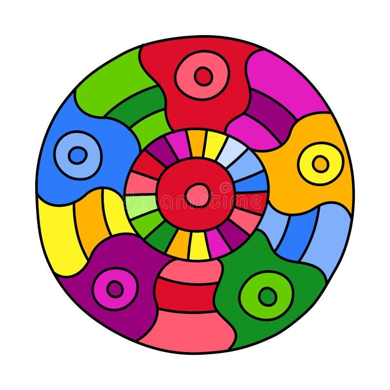 Klotter fyllde cirkeln royaltyfri illustrationer
