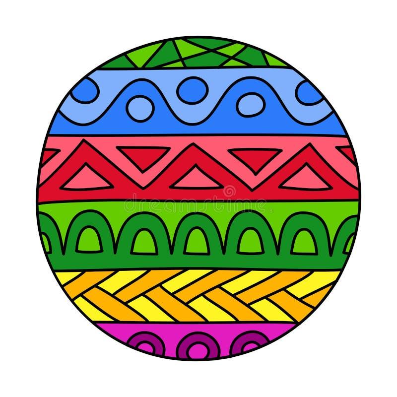 Klotter fyllde cirkeln vektor illustrationer