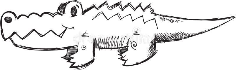 Klotteralligatorvektor stock illustrationer