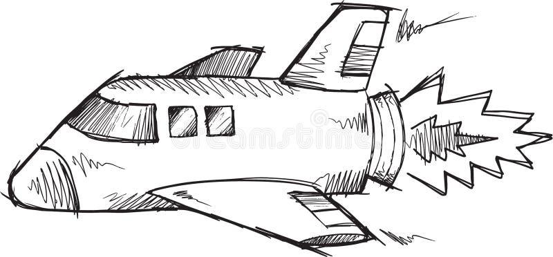 Klotteranslutning Rocket Vector royaltyfri illustrationer
