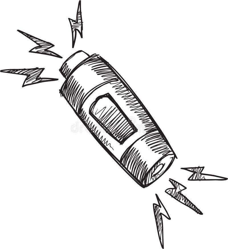 Klotterbatterivektor stock illustrationer